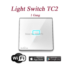 Broadlink TC2 1gang Smart WiFi Touch Wall light Switch IOS Android Remote Control Home Automation Single live wire connection