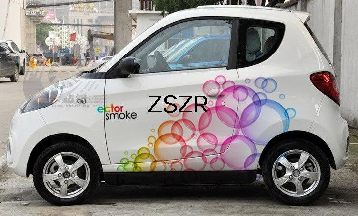Autocollants colorés à la mode pour 2 côtés de voiture de carrosserie pour Polo intelligent Mazda Yaris Camry Beetle Excel Accent Elantra Z2CA289
