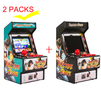 WOLSEN Retro Mini Arcade Handheld Game built in 156 games 16 Bit Game player Classic portable game console (pack of 2)
