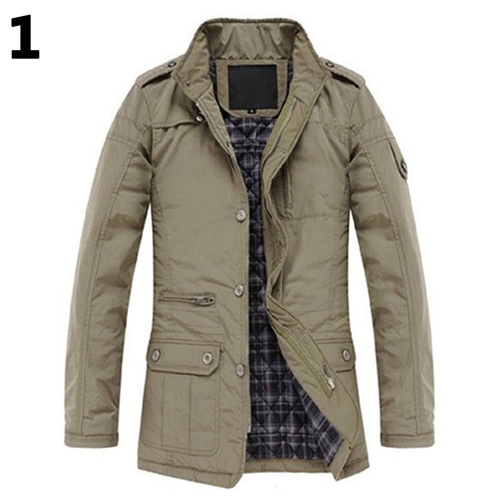 Smeiling Mens Patchwork Long Sleeve Down Coat Zip Up Bomber Jacket