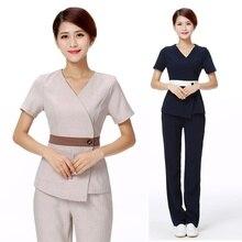 Women's Fashion Scrubs Set/Medical Nursing Uniforms/ Beautician Spa Clothing High-quality Mujer Clinicos /Uniformes