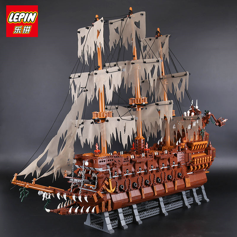 IN STOCK  Lepin 16016 3652Pcs Movies Series MOC The Flying the Netherlands Building Blocks Bricks Compatible to Children Gifts lepin 16016 3652pcs movies series moc the flying netherlands dutchman model building blocks bricks ideas creator children gifts