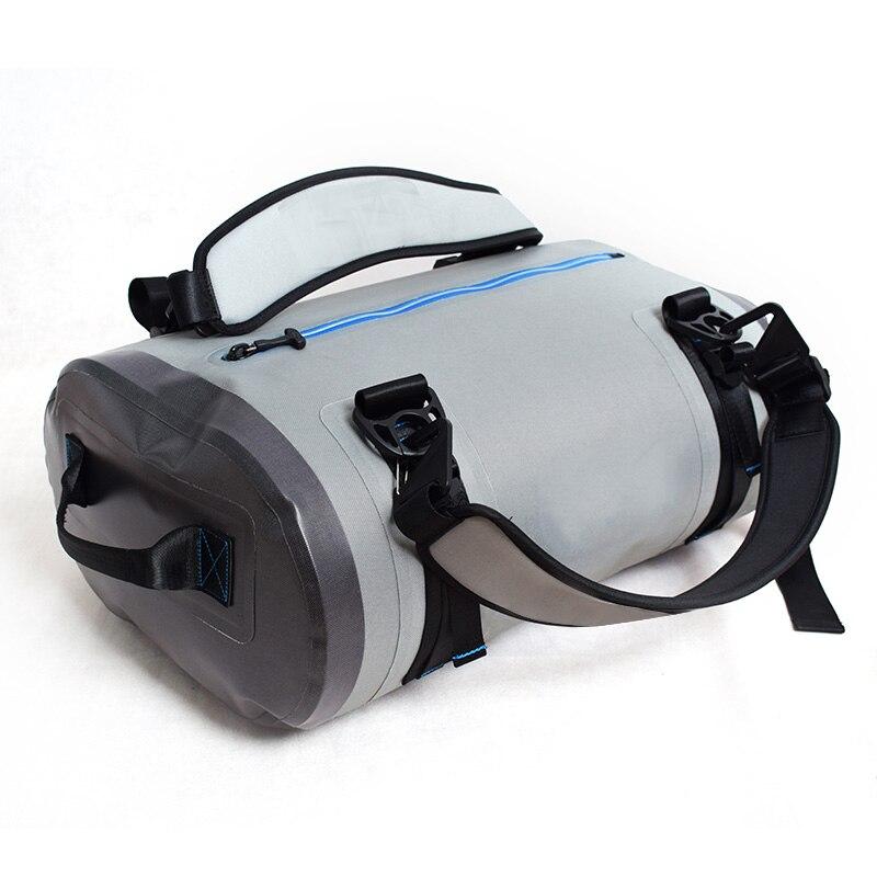 Sac de voyage de luxe de capacité de 40L TPU imperméable à l'eau étanche sac de toile gris tempête plongée natation à la dérive