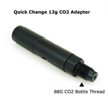 New Paintball PCP Air Gun Quick Change 12g CO2 Adapter With CO2 88g Bottle Threads for Airforce Airsoft Rifle (BLACK)(China)