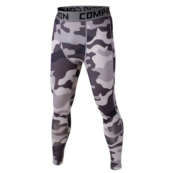 Mens Compression Pants Leggings Casual Base Layer Trousers Tights Fast Dry Trousers