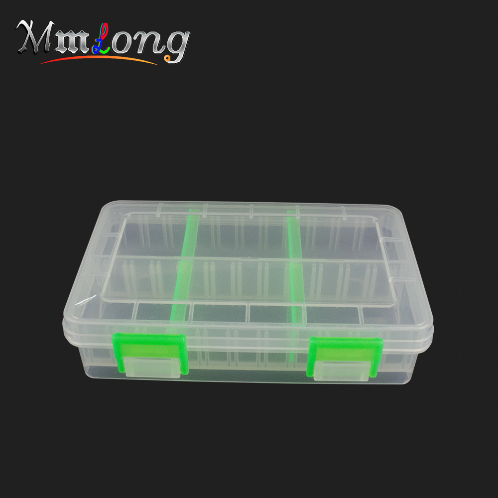 15.5*10*4cm Removable Bait Boxes H328C Clear Plastic Fishing Lure Tackle Box Multifunction Storage Case Fish Tools Pesca