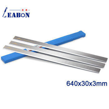 LEABON 640x30x3mm HSS W4% Planer Knife  for Woodworking (A01003048)