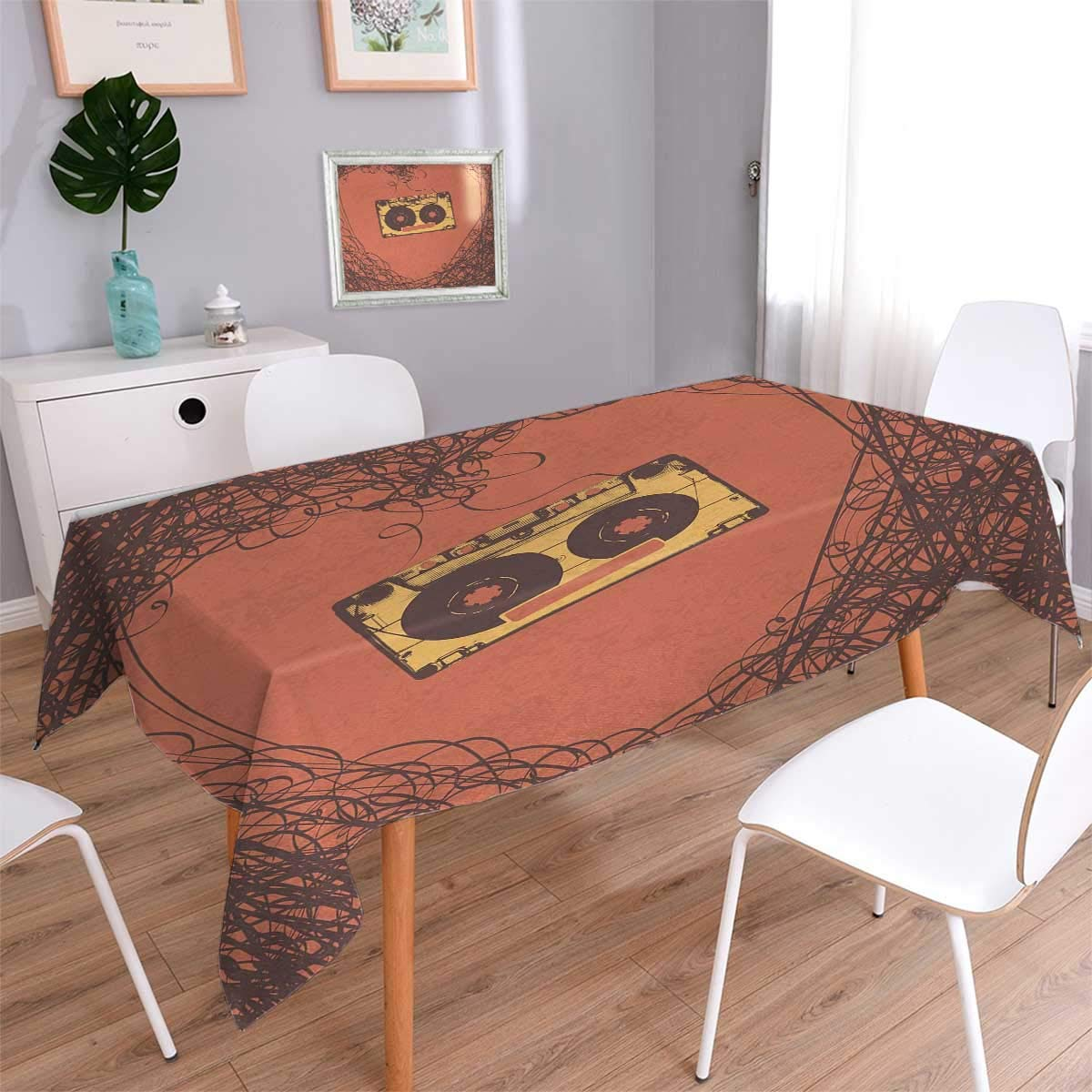 Miraculous Us 21 74 41 Off Music Table Cover Love Valentines Old Fashioned Elements Cassette Analogue Vintage Nostalgic Print Tablecloth Orange Brown In Download Free Architecture Designs Terchretrmadebymaigaardcom