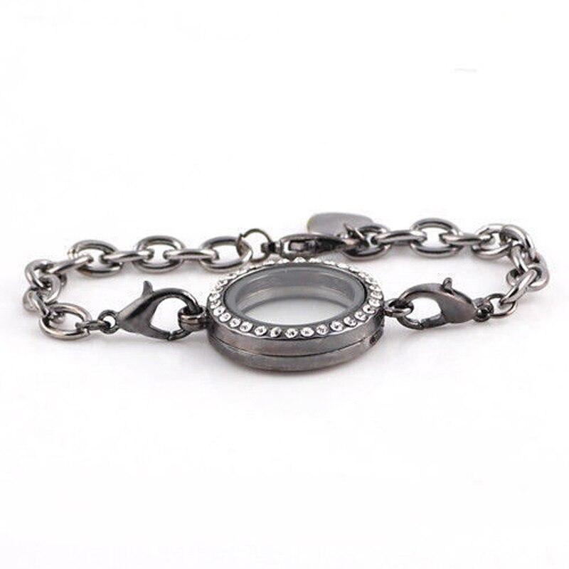NEUE Kristall Bilderrahmen Armband Menschengedenken Schwimm Charme ...