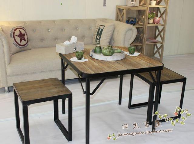 Barato forjado muebles de madera de hierro, hierro forjado patio ...