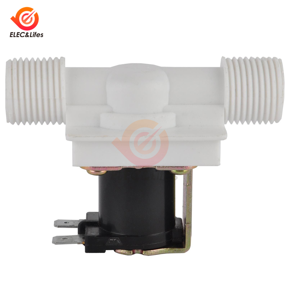 """1//2/"""" N//C Magnetic Electric Solenoid Valve Water Air Inlet Flow Switch 12//24//220V"""