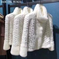 Women Winter Real Fur Coat 2018 Catwalk Style Bead Sequins Long Sleeve Short Mink Coat Female Thick Natural Fur Winter Jacket