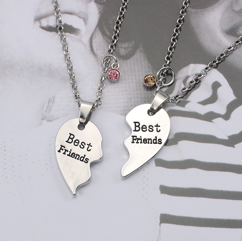 HTB1TeDLXiDxK1RjSsphq6zHrpXaZ - Best Friend Necklace Women Crystal Heart Tai Chi Crown Best Friends Forever Necklaces Pendants Friendship BFF Jewelry Collier