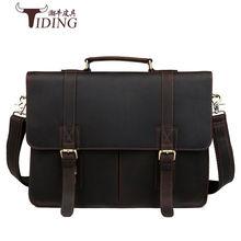 Мужская сумка crazy horse из натуральной кожи мужской портфель
