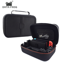 Data Frog Big Portable Hard Shell Protective Storage Pouch Carrying Case Cover Travel Storage Bag for Nintend Switch