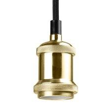 Loft Vintage lámpara colgante industrial tela Cable Techo Luz Edison iluminación portalámparas longitud ajustable E27 Socket Sin bombilla