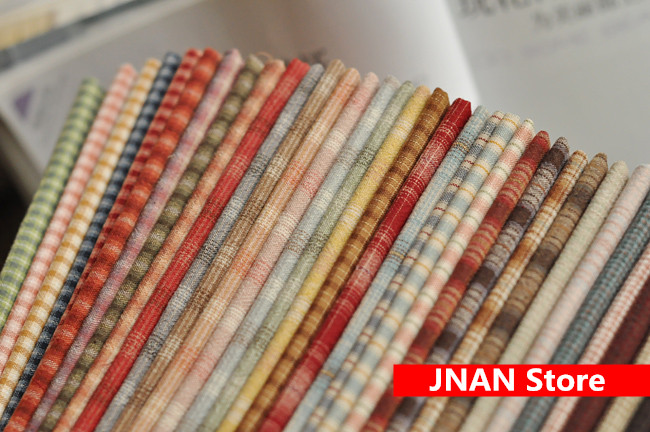 10 pice DIY Japan Little Cloth group Yarn dyed fabric for sewing Handmade Patchwork Quilting Grid stripe dot Random have gift in Fabric from Home Garden