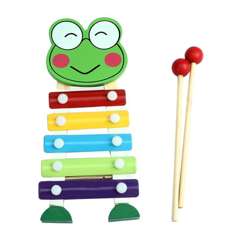 2016 most popular children kid 5 note xylophone musical toys wisdom development wooden instrument improve kid sensitive to sound