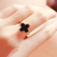 Two Color Clover Ring For Women
