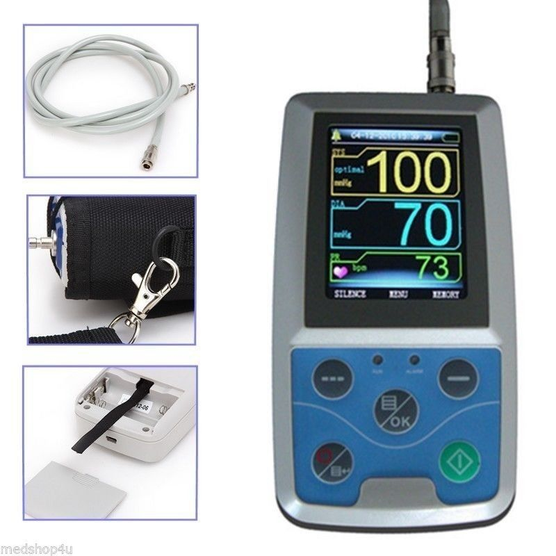 ten pic  24 hours Ambulatory NIBP Blood Monitor ABPM50 tensiometros digital  cuff blood pressure monitor  blood pressure sensor abpm50 abpm holter 24 hours ambulatory blood pressure monitor holter digital household health monitor with software usb cable