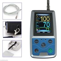 ten pic 24 hours Ambulatory NIBP Blood Monitor ABPM50 tensiometros digital cuff blood pressure monitor blood pressure sensor