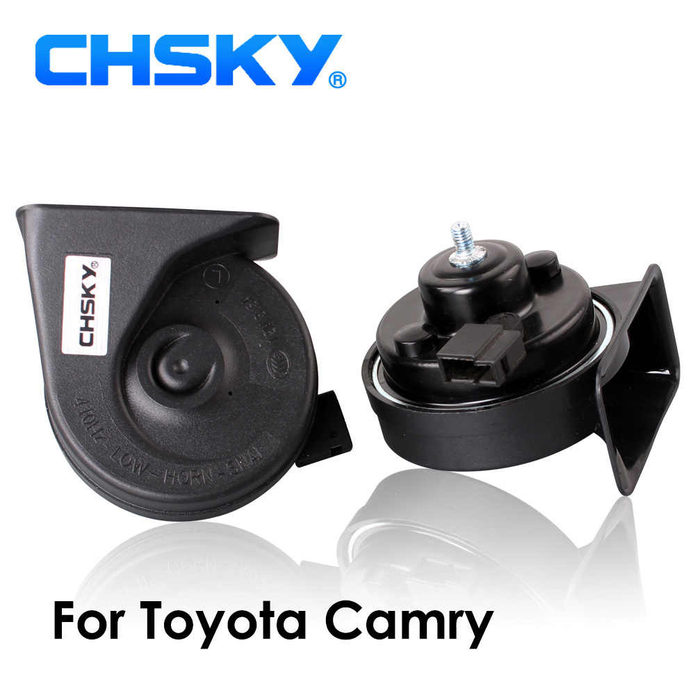 CHSKY Car Horn Snail type Horn For Toyota Camry 2002 to 2017 12V Loudness 110-129db Auto Horn Long Life Time High Low Klaxon