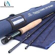 Maximumcatch 10FT 3WT 4PCs Nymph Fly Fishing Rod Graphite Carbon Fiber with Cordura Tube