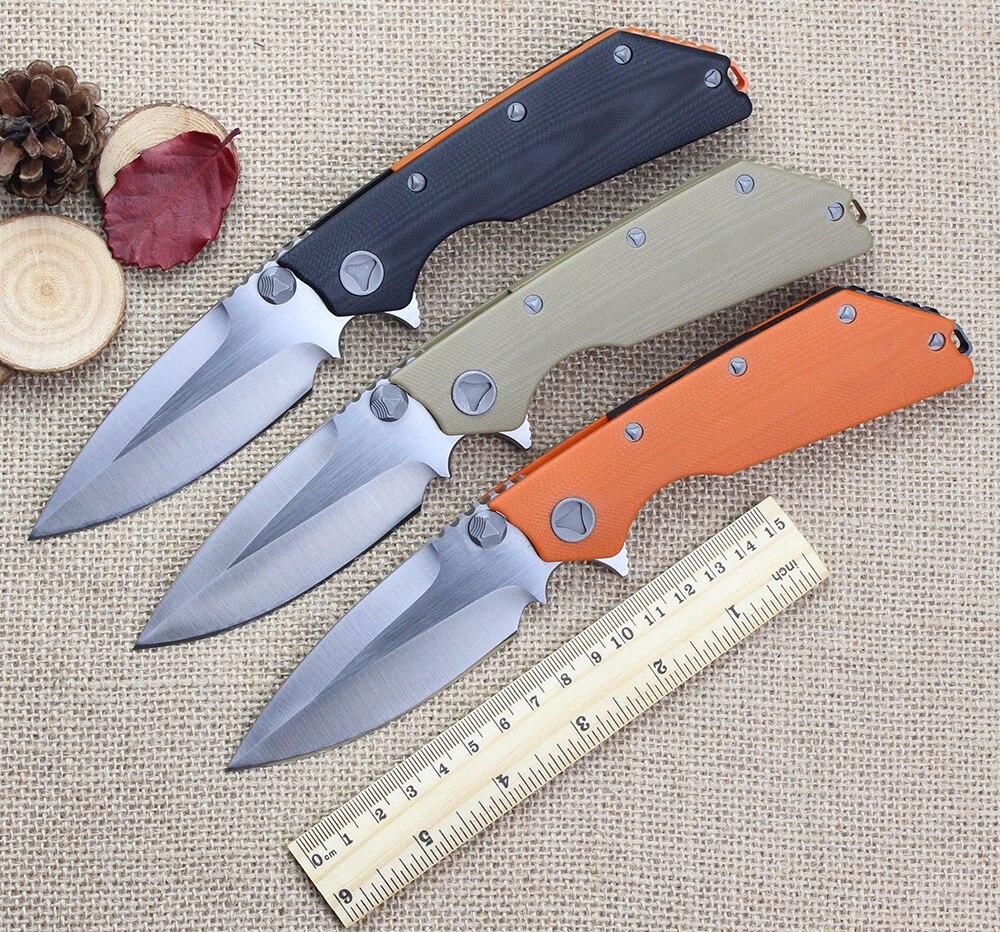 High end DOC Folding font b Knife b font D2 Blade G10 Handle Combat font b