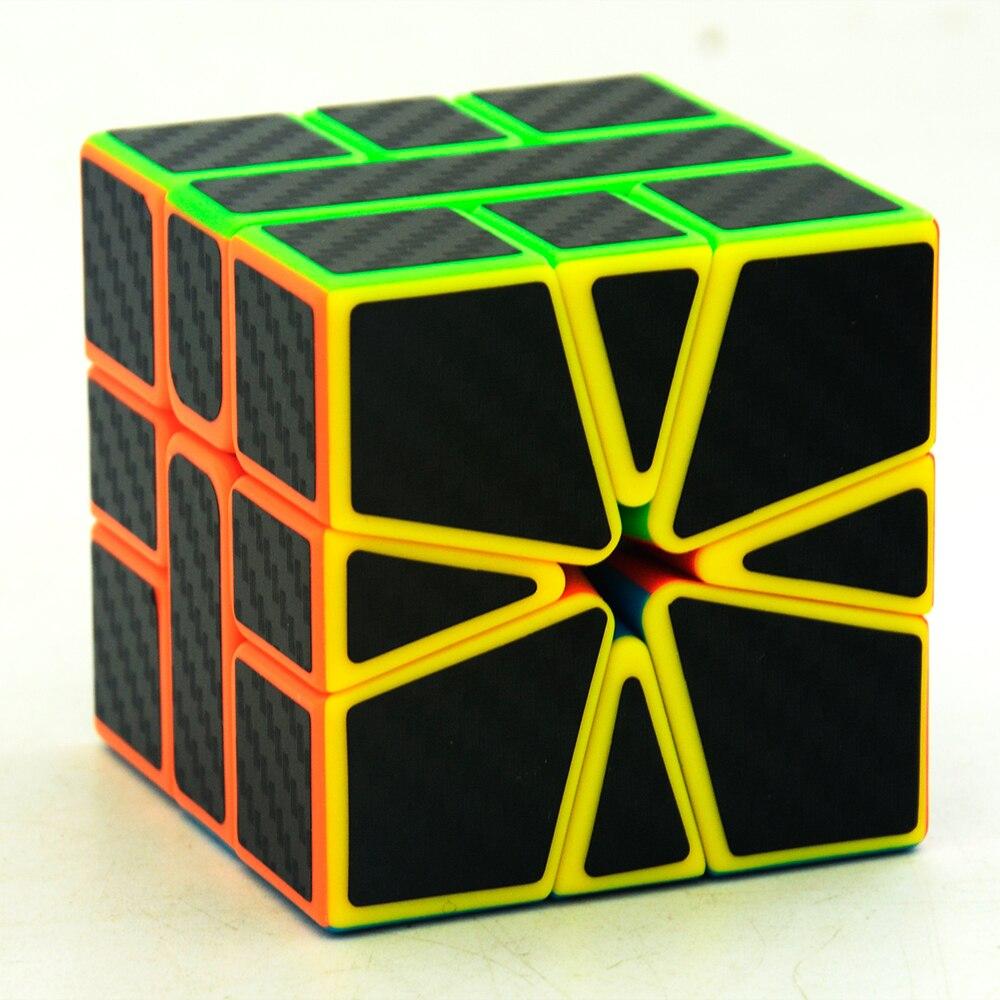 6 pièces/ensemble Lefun Magique Cube Mastermorphix + SQ-1 + Megamin + Miroir Bloc + Pyramin + Biais Noir autocollant Rubiks Cube - 4