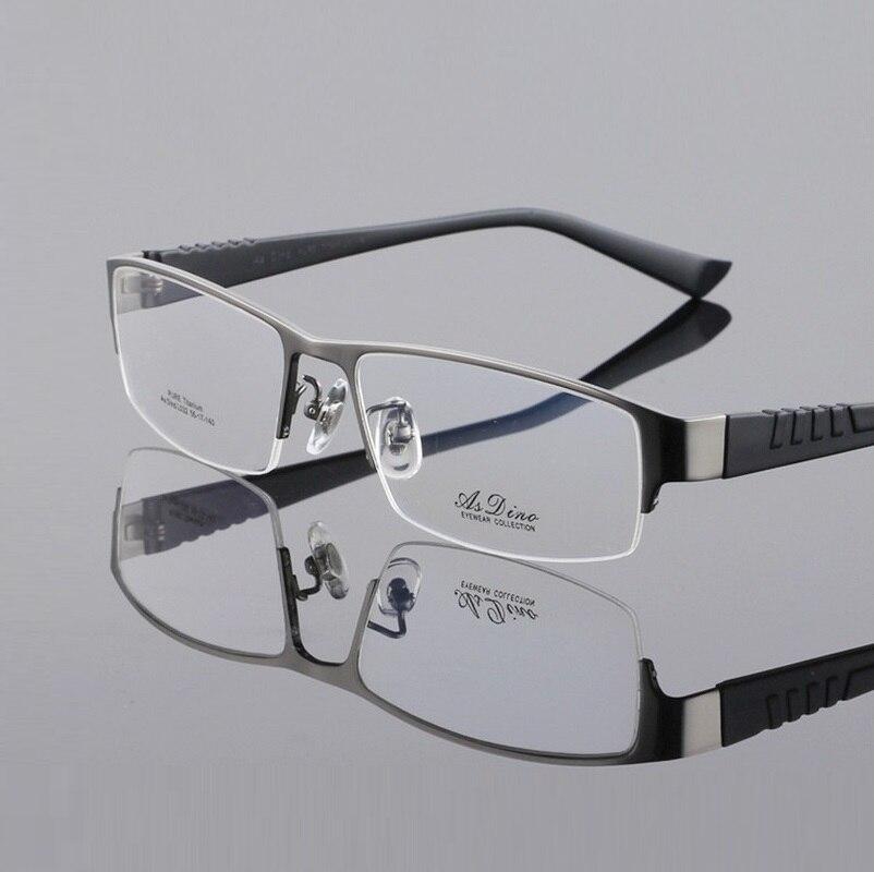 56-17-145 nuevo Pure Titanium marco Titanium anteojos placa hombres ...