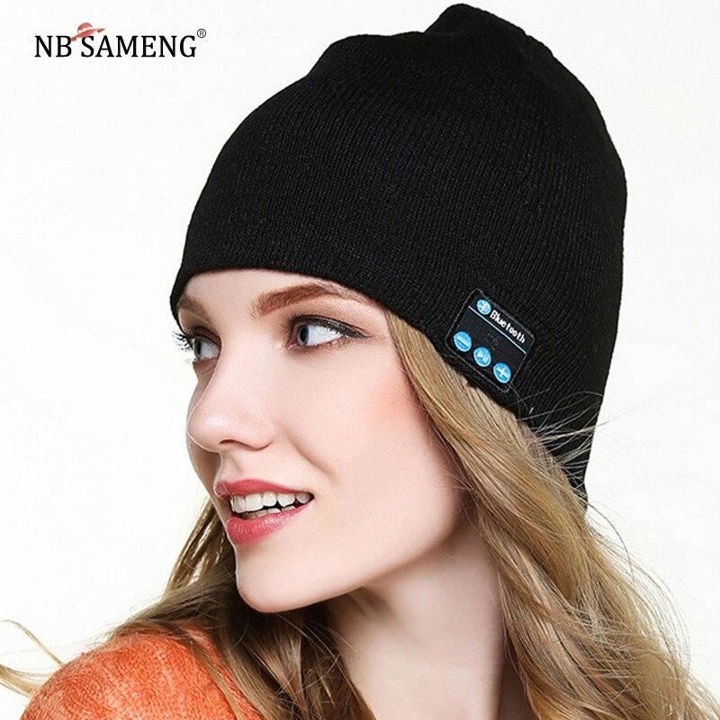 37b2c969041fd 2018 New Women Men Beanie Hat Wireless Bluetooth Talking Cap Headset  Speaker For Smart Phone 6 Colors