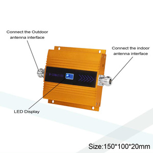 Image 2 - Walokcon Set Gain 65dB (LTE Band 1) 2100 UMTS Mobile Signal Booster 3G (HSPA) WCDMA 2100MHz 3G UMTS Cellular Repeater Amplifier