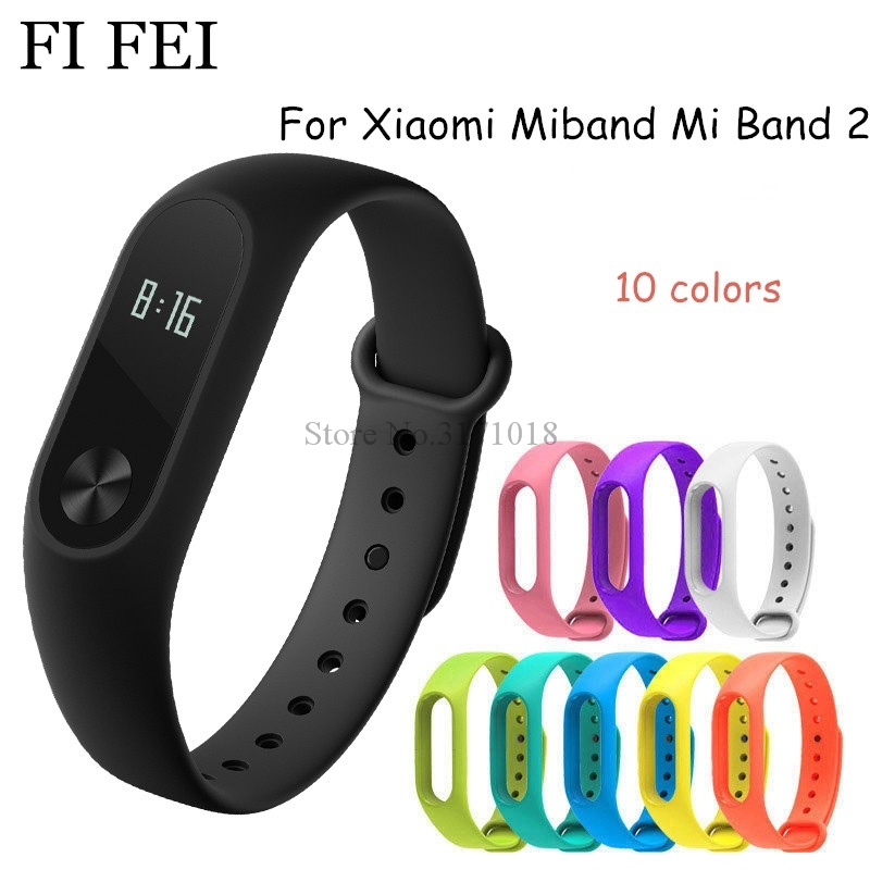 FI FEI Colorful Silicone Wrist Strap Bracelet Replacement Watchband for Miband 2 For Xiaomi Mi band 2 band2 Wristbands 10 Colors watchband strap for xiaomi mi band 2 bracelet easy fit replacement band silicone easyfit wristband 170 220mm dignity d7