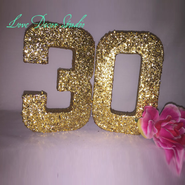 Glitter Numbers-Glitter Number 3-Glitter Number 0-Birthday Party Decor-30th & Glitter Numbers Glitter Number 3 Glitter Number 0 Birthday Party ...
