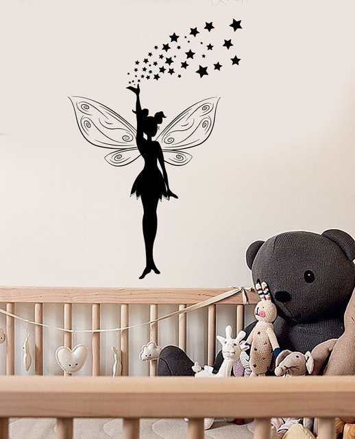 Online Shop Fairy Tale Magic Girl Vinyl Art Stickers Nursery Wall - Wall decals girls room