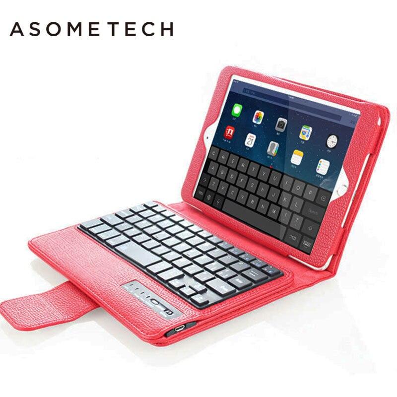 New 2017 Wireless Bluetooth Keyboard Litchi Pattern PU Leather Cover Protective Fundas For iPad Mini 1 2 3 4 Case W/Film+Stylus z 2 59 key pu leather bluetooth v3 0 keyboard w pu leather holder for ipad mini 2 light brown