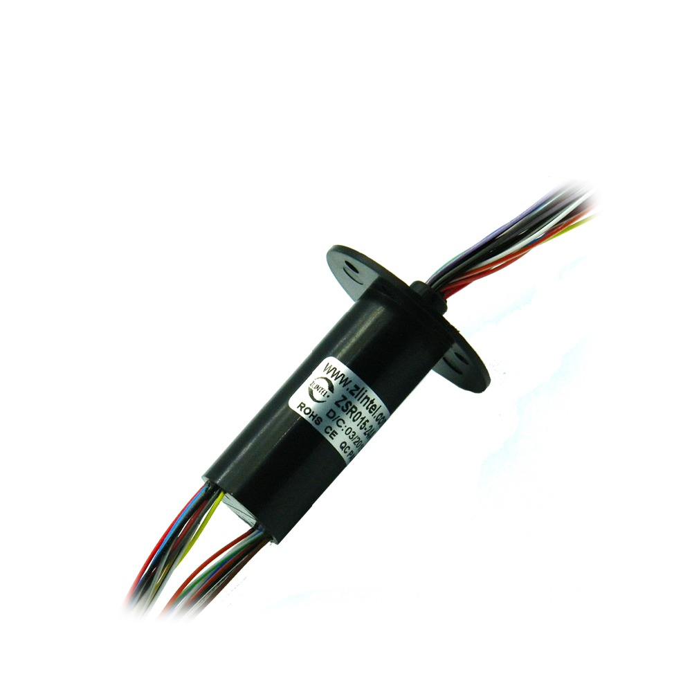 ZSR015-24A Parallelable Slip Ring 24 Channel 2A Conductive Slip Ring 22mm Out Dia. Capsule Electrical Collection slip-rings zsr022 3r20a capsule slip ring for automatic arm slip rings 3 channel 20a large current compact slip ring out dia 22mm