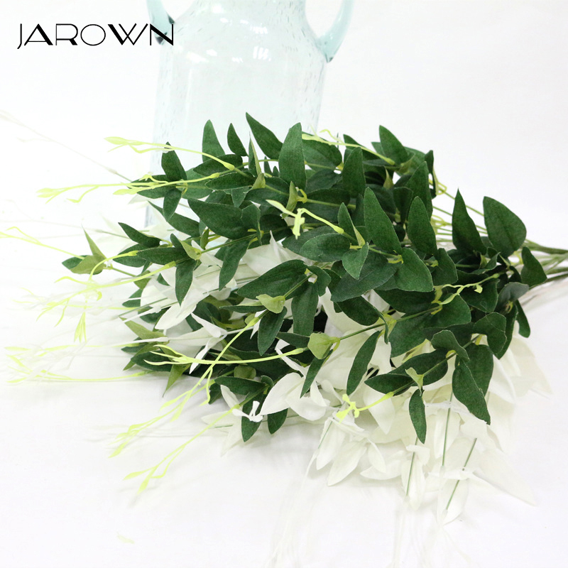 JAROWN Artificial Plant Simulation Green Leaves Flower Arrangement Decor Accessories For Wedding Decoration Home Office Decor