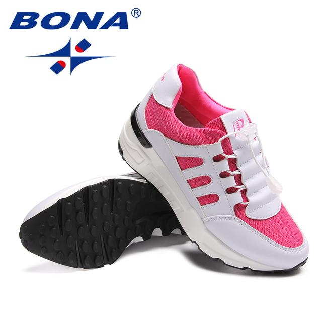 BONA nueva llegada estilo clásico zapatos para caminar para mujer zapatos deportivos de malla para correr al aire libre zapatillas rápidas envío gratis