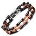 10mm*20cm(7.87inch) White Shiny Rhinestones Stainless Steel Orange Black Bicycle Chain Bracelet Mens Biker Jewelry Gift 50g