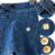 Otoño de Las Mujeres Negro Azul Rasgado Vaqueros Bajo La Cintura Elástico Pantalones Lápiz señora Spring Fashion Bodycon Leggings de Mezclilla Pantalones Femeninos