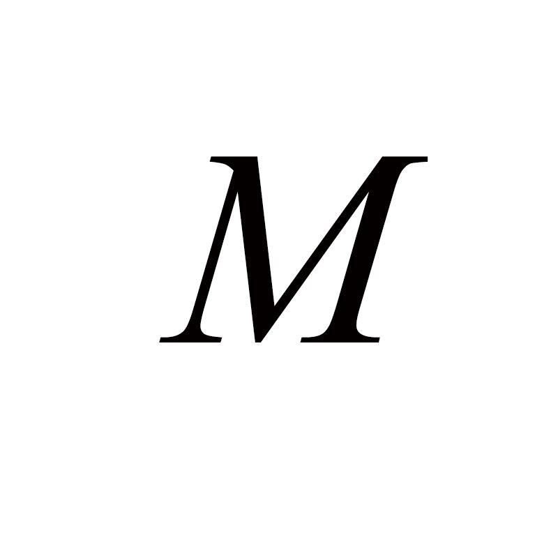Персонализированные ручные штампованные A-Z, 26 букв, начальные крошечные кольца в виде сердца для женщин, золотые кольца на палец, ювелирные изделия - Цвет основного камня: M