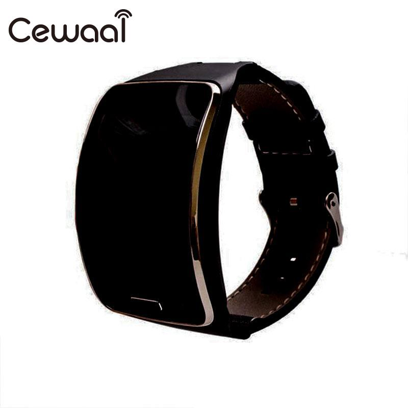 Cewaal New Watchband Leather Replacement Watch Strap Wrist Band Strap For Samsung Gear S R750 Smart Watch 3 Colors