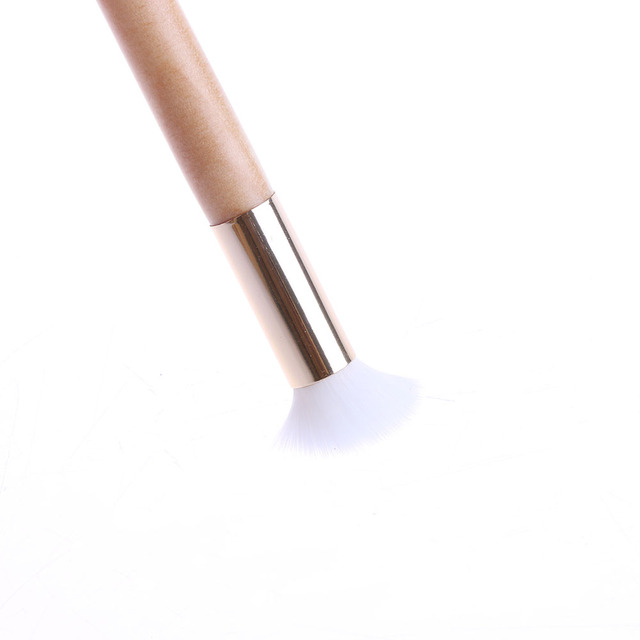 Pore Blackhead Cleaner Face Washing Scrub Facial Cleansing Wood Gold Handle Brush Facial Cleanser Beauty Tool Makeup Brushes