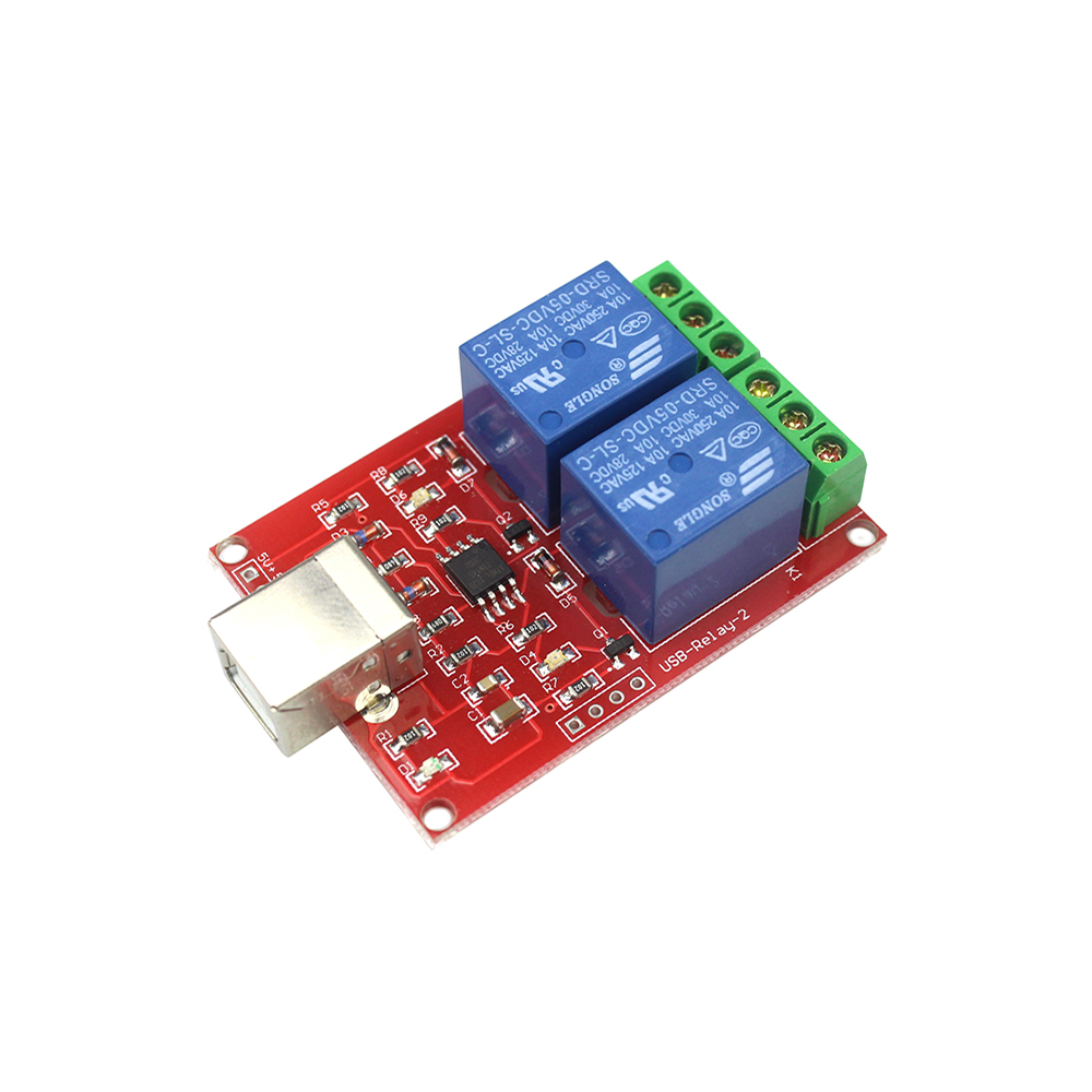 2 Channel 5V Relay Module USB Control Switch / 2 Way 5V Relay Module / Computer Control Switch / PC Intelligent Control 4 channel dc 12v computer usb control switch drive relay module pc intelligent controller 4 way 12v relay module