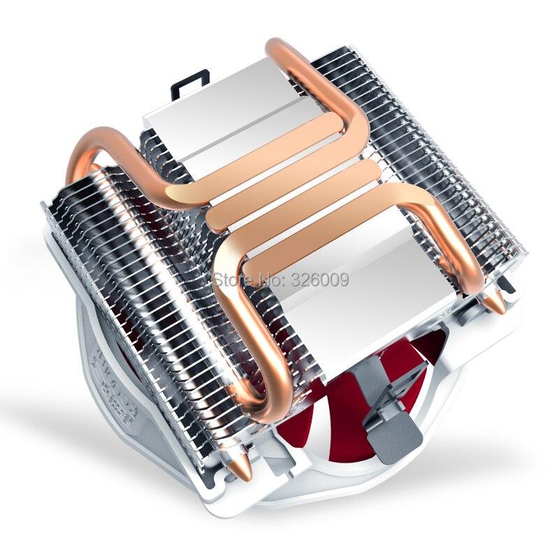 4pin PWM 12cm fan 4 heatpipe CPU cooling For Intel LGA1151 1150 775 1155 1156 for AMD computer radiator PcCooler Q127 V6