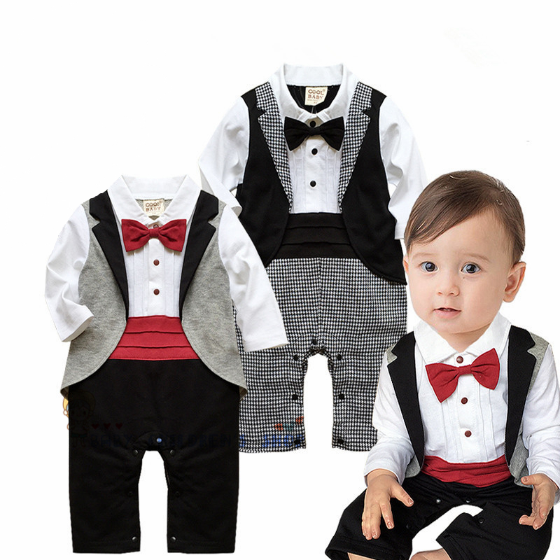 Fashion Baby Boy Clothes Spring Autumn Baby Clothing Set Roupas Bebes Cotton Infant Jumpsuits Gentleman Newborn Baby Boy Rompers цена