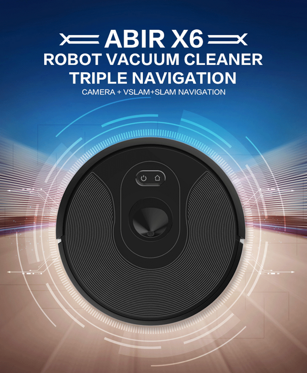 HTB1TeFva2WG3KVjSZPcq6zkbXXal ABIR Robot Vacuum Cleaner x6 with Camera Navigation,Smart Memory,Hand Draw Virtual Blocker,Low Noise,Intelligent Big Water Tank