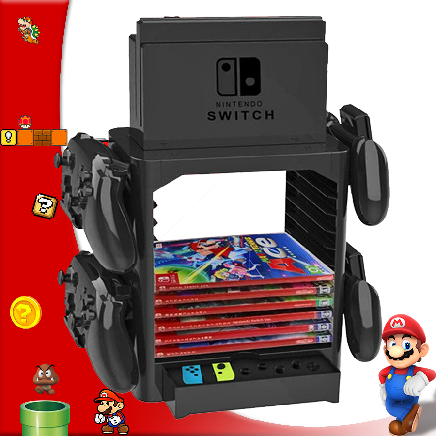 2019 Nintend Switch Accessories Nintendoswitch Games Disc Storage 4 Gamepad Holder Stand for Nintendo Switch Console Joy-con2019 Nintend Switch Accessories Nintendoswitch Games Disc Storage 4 Gamepad Holder Stand for Nintendo Switch Console Joy-con