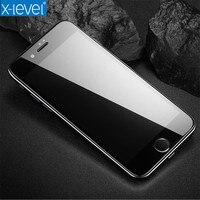 X-уровень 3D Экран Стекло для iPhone 6 7 полный Экран Высокое разрешение тонкий технологии для iPhone 6 7 закаленное стекло